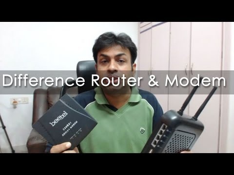 Difference Between Modem & Routers - Geekyranjit Explains
