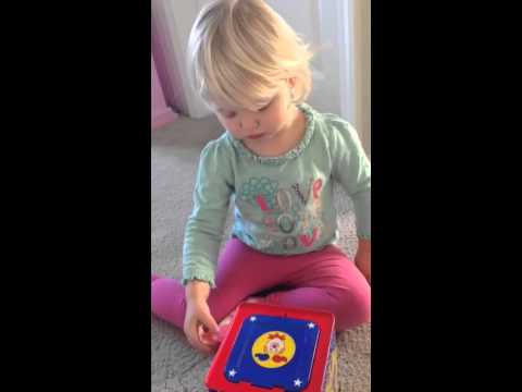 Pop goes the weasel game spooks baby girl (funny)