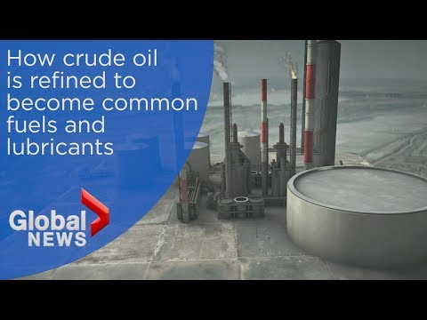 How oil refineries work to break down crude oil