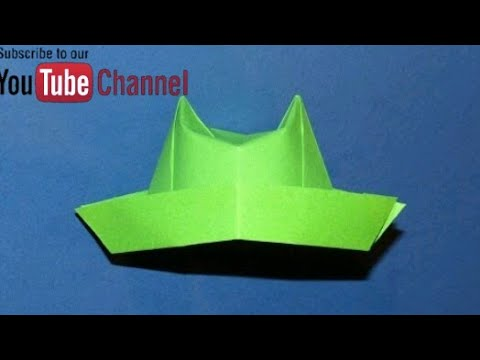 How to Make a Paper Hat - Origami - Simple and Easy Folds - Step by Step