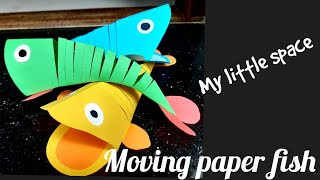 Easy Crafts   Moving Paper Fish   Simple Paper Craft For Kids   My Little Space