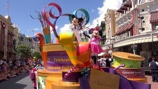 Celebrate A Dream Come True Parade Magic Kingdom Walt Disney World