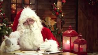 Новогоднее видео поздравление. Дед Мороз читает письмо
