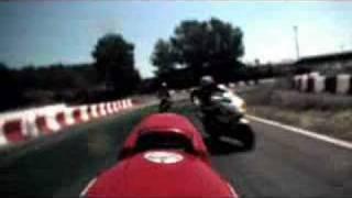 MotoGP foot chase