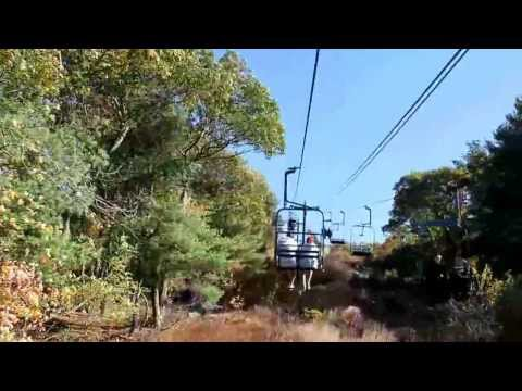 "Great Blue Hill Ski Lift, ""Blue Skies"" - October 20, 2013"
