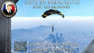 Gta 5 Online Saut En Parachute Avec Les Abonnés - Avions De Chasse Vole A L
