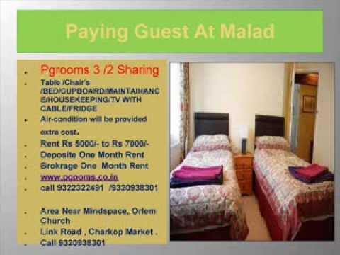 PAYING GUEST ROOMS ,PGROOMS,  MUMBAI 9320938301