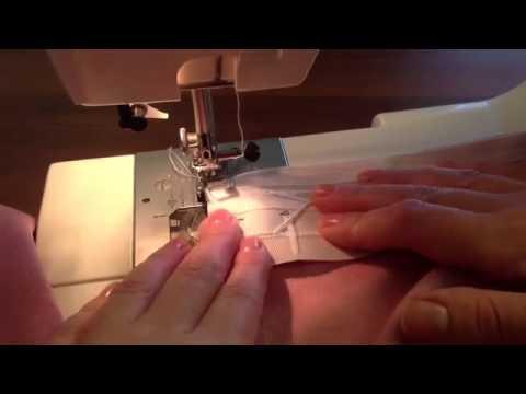 Как пришить шторную ленту к тюли видео мастер класс
