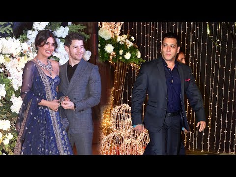 Salman Khan Makes MACHO ENTRY At Priyanka Chopra & Nick Jonas WEDDING Reception In Mumbai