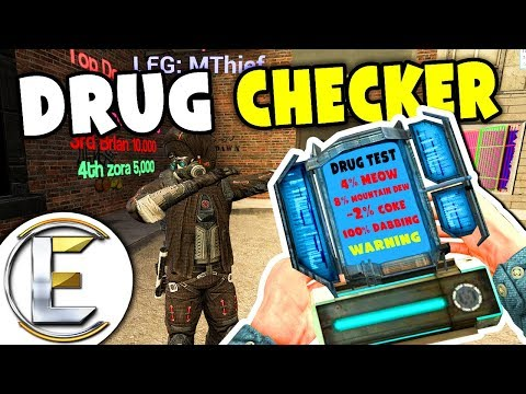 Drug Test - Gmod DarkRP (Testing Everyone On The Street Even Searching Bases)