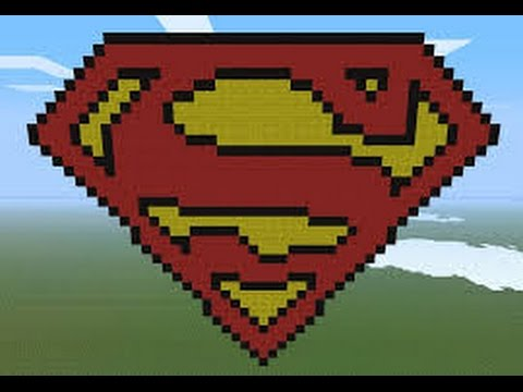 Minecraft tutorial how to build a superman logo youtube - Signe de superman ...