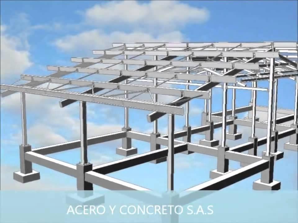 Estructura metalica acero y concreto sas youtube - Estructuras de acero para casas ...