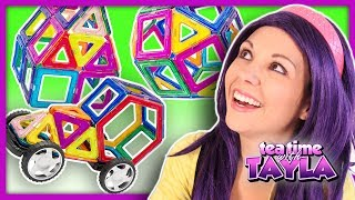 Learn Shapes and Colors for Kids with Building Block Toys for Children on Tea Time with Tayla
