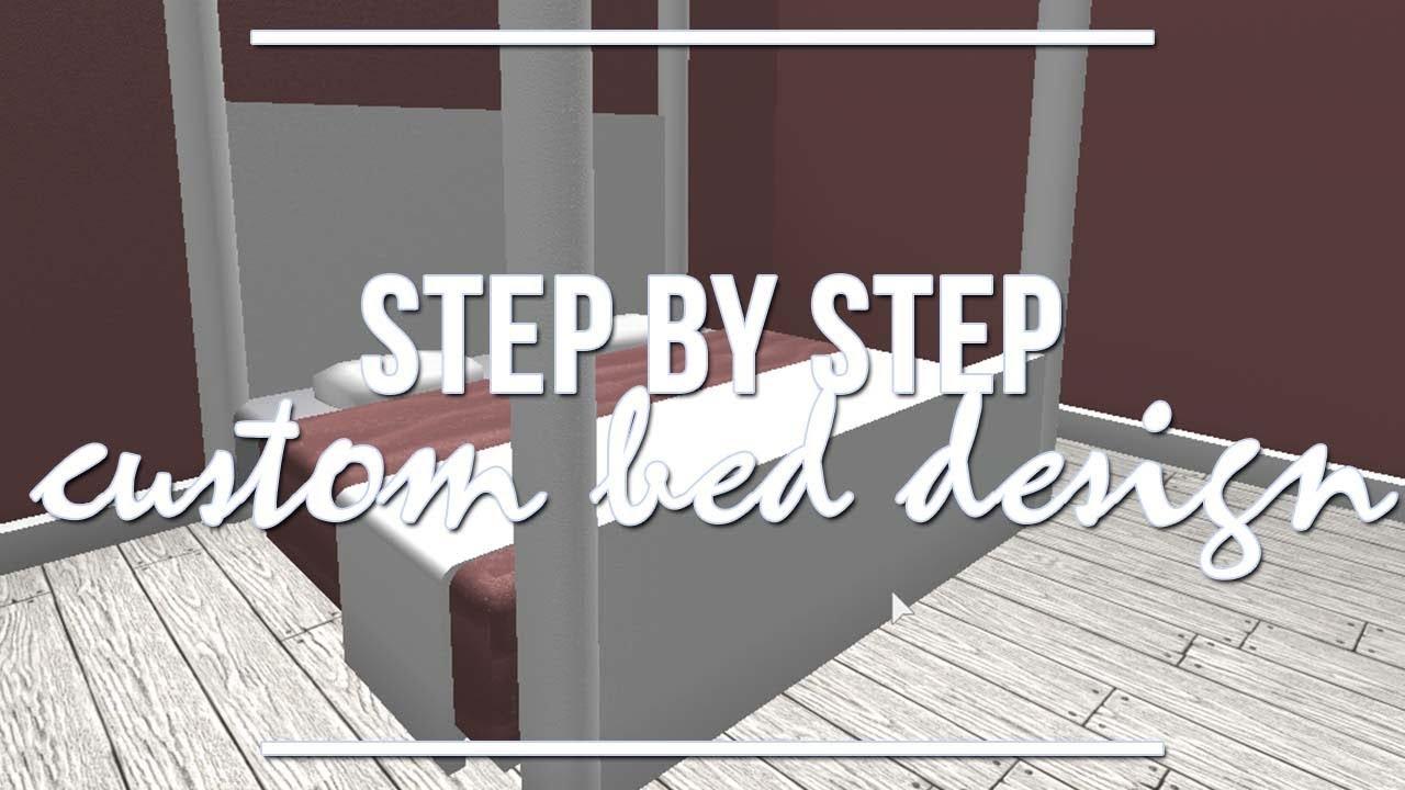 Roblox Bloxburg Step By Custom Bed Design 1 9k