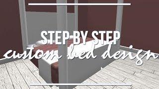 ROBLOX Bloxburg | Step By Step: Custom Bed Design 1.9k