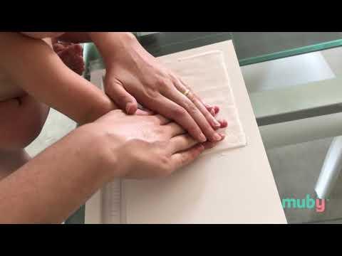 Muby -  Cornice Con Impronte & Porta Bracciali Di Nascita Per Neonati