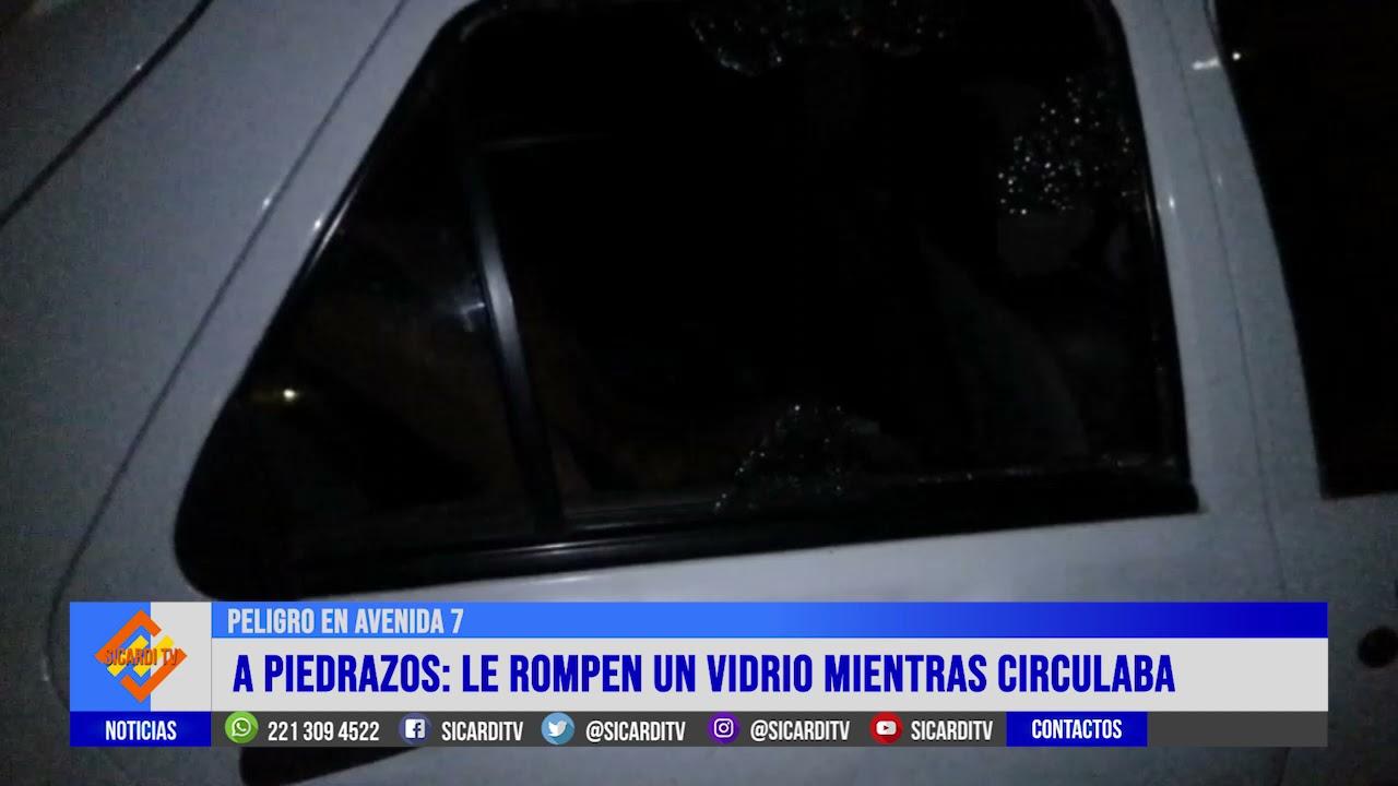 Peligro en Avenida 7: rompieron un vidrio e hirieron a su hija de 2 años
