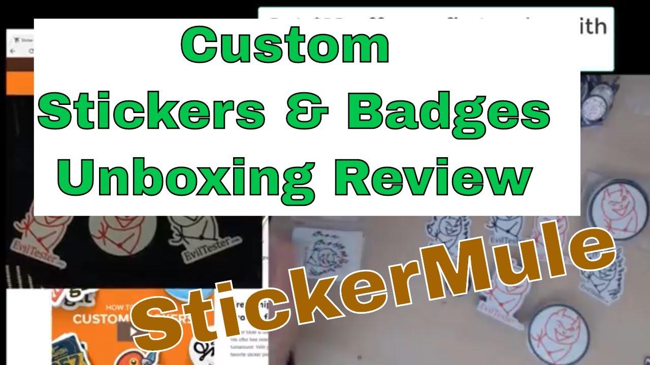 Stickermule custom stickers badges fridge magnets unboxing review