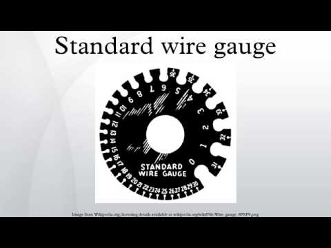 Standard wire gauge youtube greentooth Gallery