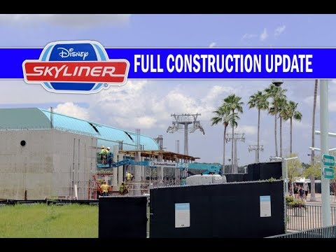 Disney Skyliner Full Construction Update July 2018