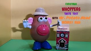 Whoppers, Chocolate Malted Milk Balls (hershey Co.) Christmas Holiday Candy, With Mr. Potato Head