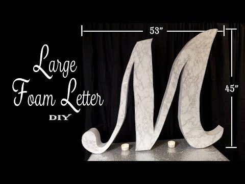 Large Monogram Letter DIY /  Party Decor / Dollar Tree DIY