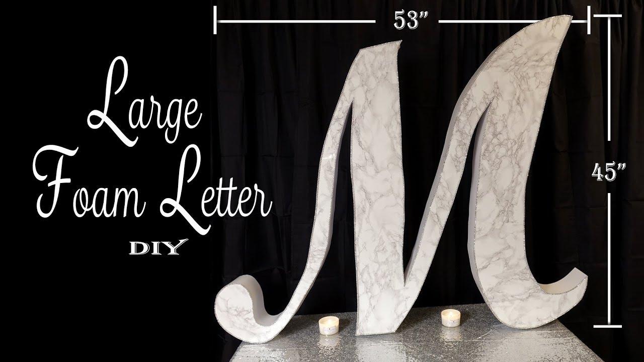 Large Monogram Letter Diy Party Decor