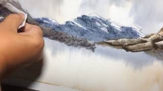 Fast And Loose Watercolor Scraping Rocks