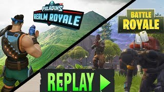 FORTNITE REPLAY AND UPDATE ON PALADINS REALM ROYALE