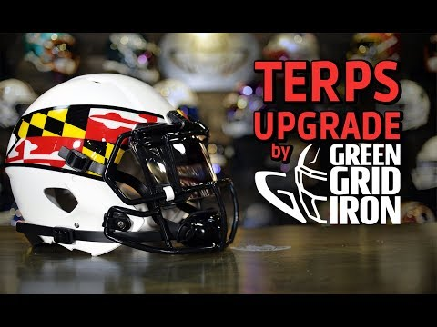 HELMET BUILD - Maryland Terps Gets Blacked Out