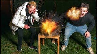 FEUER EXPLOSION INS GESICHT!! EXPERIMENT GEHT SCHIEF!!