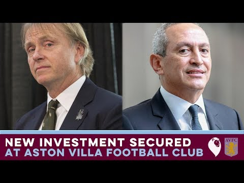 NEW INVESTMENT SECURED AT ASTON VILLA