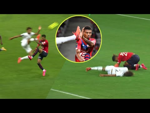 Sacha Boey shown Red card for CRAZY Foul   Rennes Vs Lille