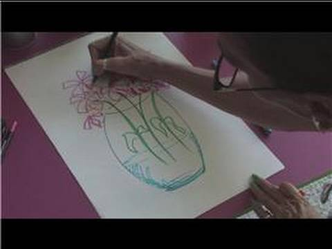 Drawing Tutorial How To Draw Flowers Coming Out Of A Vase Youtube