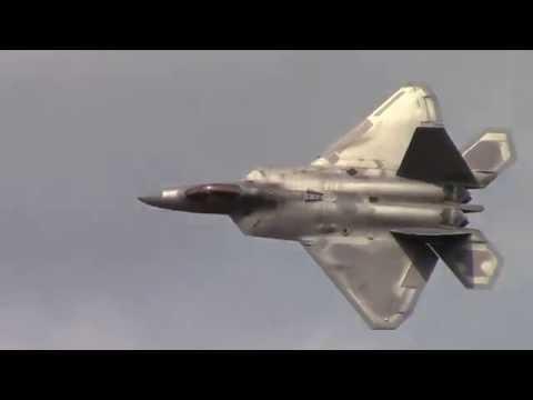 2015 New York Airshow US Airforce F-22 Raptor Demo-Saturday