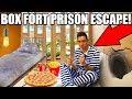 24 HOUR BOX FORT PRISON ESCAPE!! ESCAPE