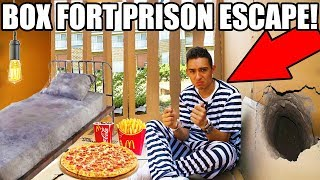 24 HOUR BOX FORT PRISON ESCAPE!! ESCAPE ROOM 📦🚔
