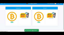 Exchange Bitcoin to MTN Mobile Money / Exchange MTN Mobile Money to Bitcoin instantly
