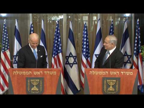 Statements By VP Joe Biden And PM Benjamin Netanyahu In Jerusalem