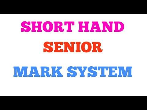 SHORTHAND  MARK SYSTEM   TAMIL & ENGLISH   JUNIOR & SENIOR