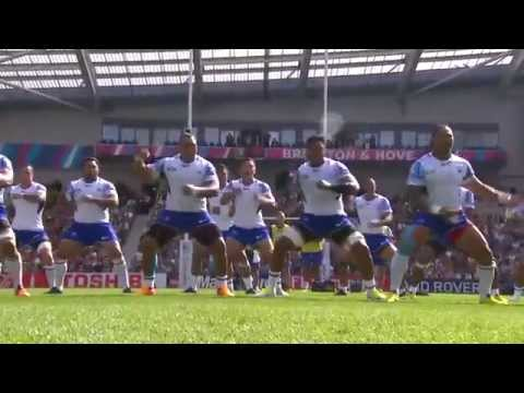 Samoa's powerful haka (Siva Tau war dance) taunts USA