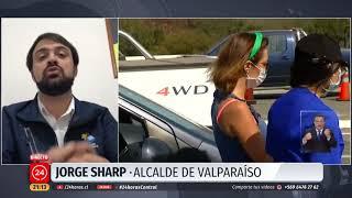 """Alcalde Sharp: """"Llamamos a no venir a Valparaíso"""""""