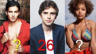 The Good Doctor Cast Age Comparison 2018