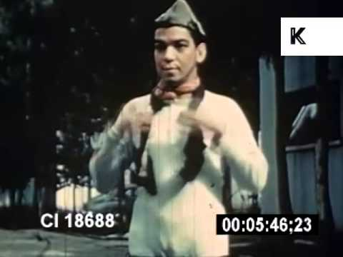 1940s Mexico, Cantinflas and Fans, Color Archive Footage