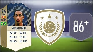 FIFA 18 Prime Icon Ronaldinho 94 SBC 86+ Squad No Loyalty