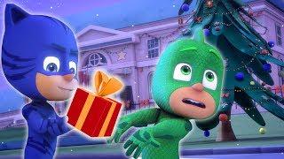 Pijamaskeliler Türkçe ❄️ Kertenkele Noel'i Kurtarıyor ❄️ çizgi filmleri çocuklar için