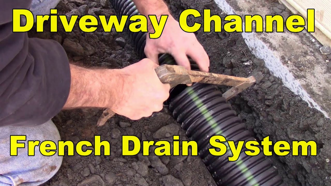 Driveway Drainage System Gravel As Channel Drain Youtube