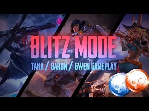 Vainglory Blitz Mode - Ep 3: THE DAMAGE IS CRAZY!! Taka/Baron/Gwen [CP| Gameplay [Update 2.1]