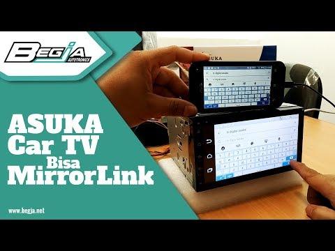 Caranya ASUKA TV Mobil bisa connect Mirror Link ke Smartphone dan Steering Wheel Control?