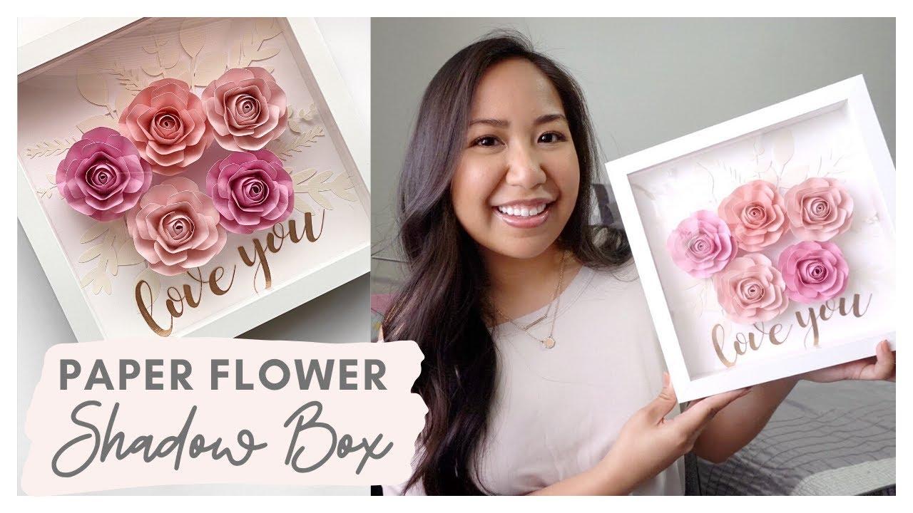 Rolled Paper Flower Shadow Box - Creative Ramblings | 720x1280